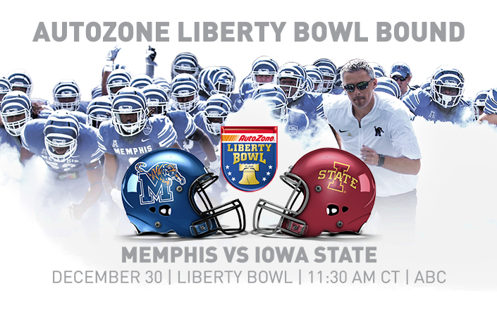 Tiger Football is Autozone Liberty Bowl Bound!